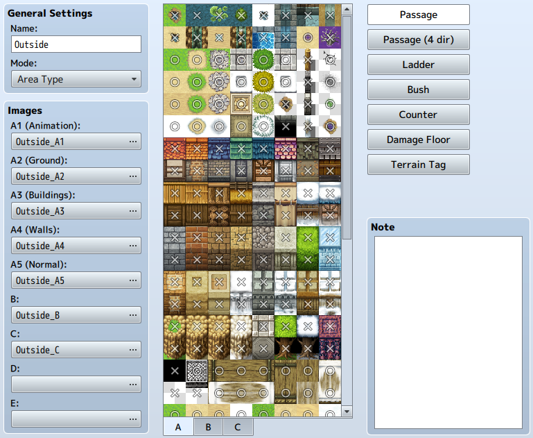 Tileset Settings